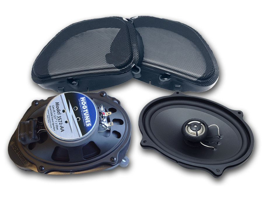 Hogtunes 5in.x7in. Front Speakers. Fits Road Glide 2006-2013.