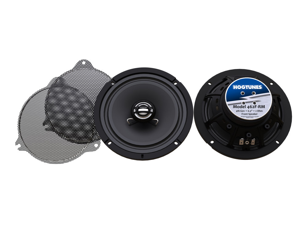 Hogtunes 6.5in. Front Speakers. Fits Touring 2014up.