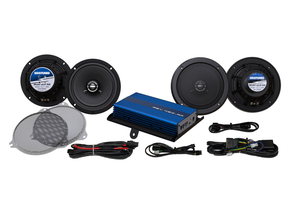 Hogtunes G4, 200 Watt Amp x 4 Speaker Kit. Fits 2014up Touring Ultra Models & Street Glide with Tour Pack.