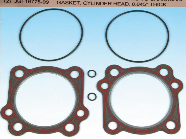 Gasket Kit; Head+Base Big Twin'99-1188/96