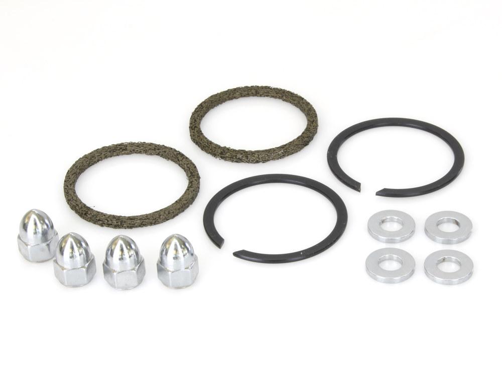 Gasket Kit; Exh Big Twin'84upS/Eagle Type w/Chr Acorn Nuts (Kit)