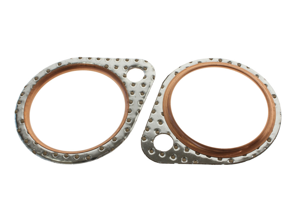 Gasket; Exh Pipe Big Twin'66-84Steel Core w/Fire Ring (Pair)