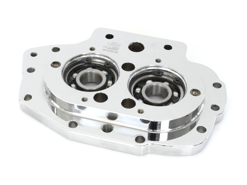 Transmission Trap Door with Exhaust Mounting Hole. Fits Big Twin 1999-2006 with  5 Speed Transmission.