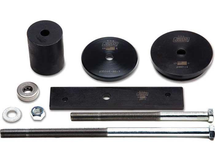 Main Drive Gear & Bearing Removal & Installation Tool. Fits Twin Cams 2007up & Dyna 2006 with 6 Speed Transmission.