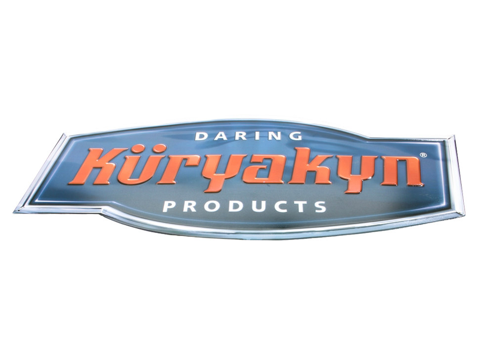 Kuryakyn Metal Logo Sign.