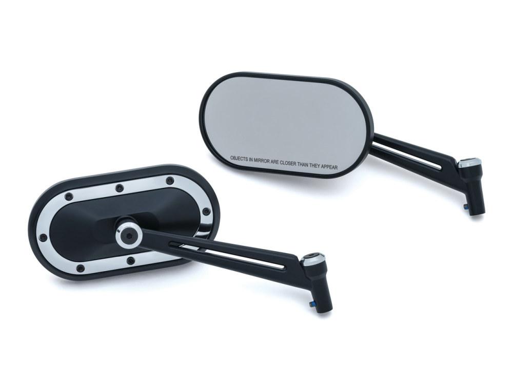Mirror; Heavy Industry Blk w/Chr Trim (Pair)