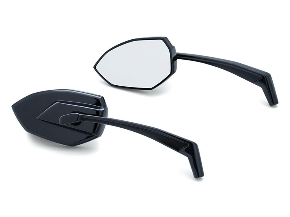 Mirror; Phantom Gloss Black (Pair) Phantom Mirrors feature an aggressive angular design for a true custom appearance without sacrificing rear-view vision.