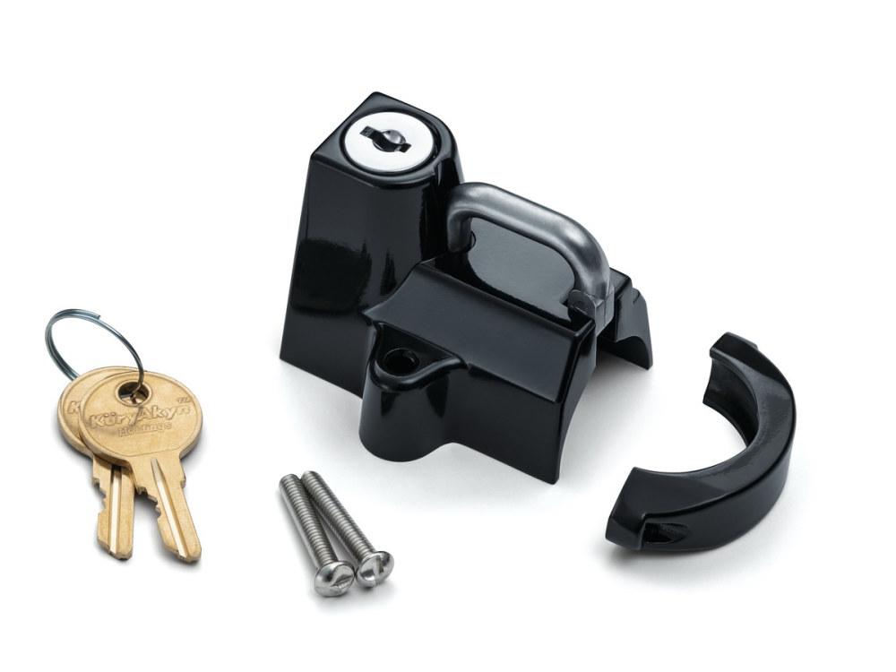 Universal Helmet Lock – Black. Fits 7/8in. to 1-1/4in. Tube.