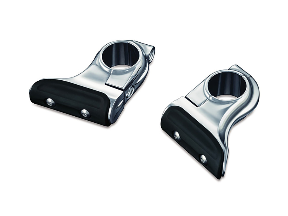 Chrome Toe Rest Cruise Pegs; Indian & Victory Models with 1-1/4