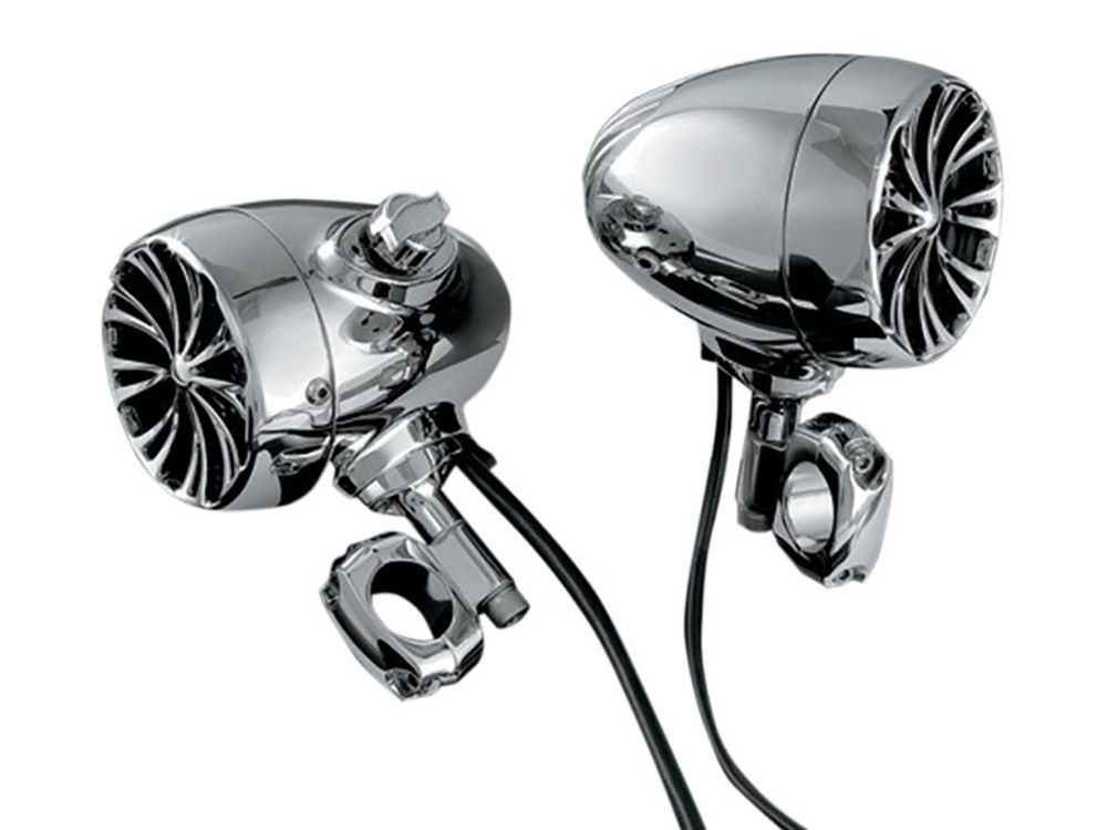 The Sound of Chrome Speaker Kit with Bluetooth. Fits 1-1/4