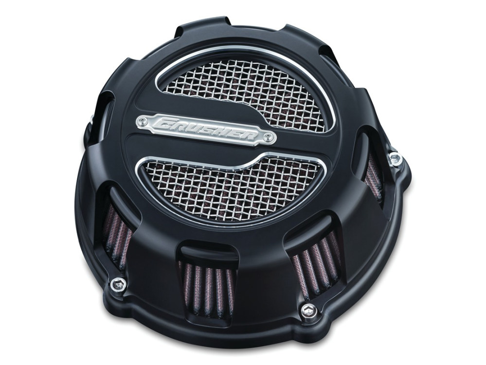 Air Filter Assembly; Sportster'07up. Maverick with High Flow Element & Black Finish.