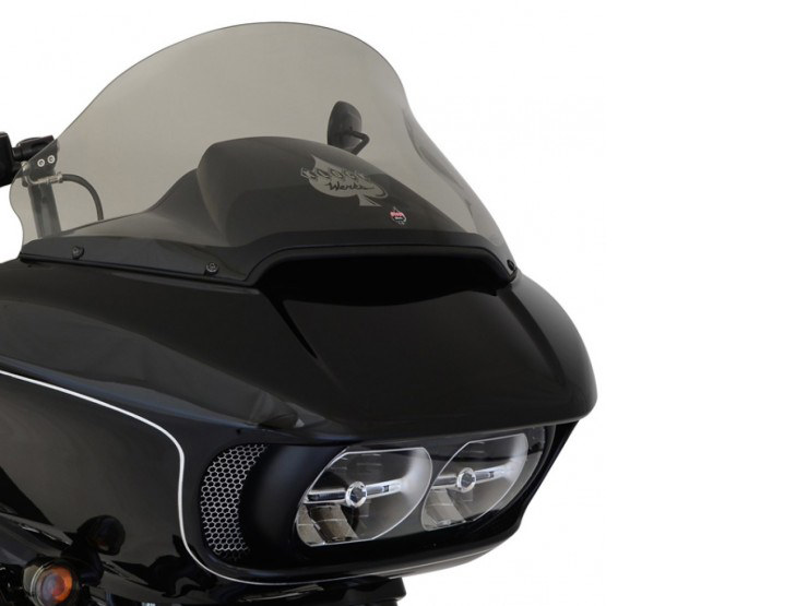 12in. Pro-Touring Flare Windshield – Tinted. Fits Road Glide 2015up.
