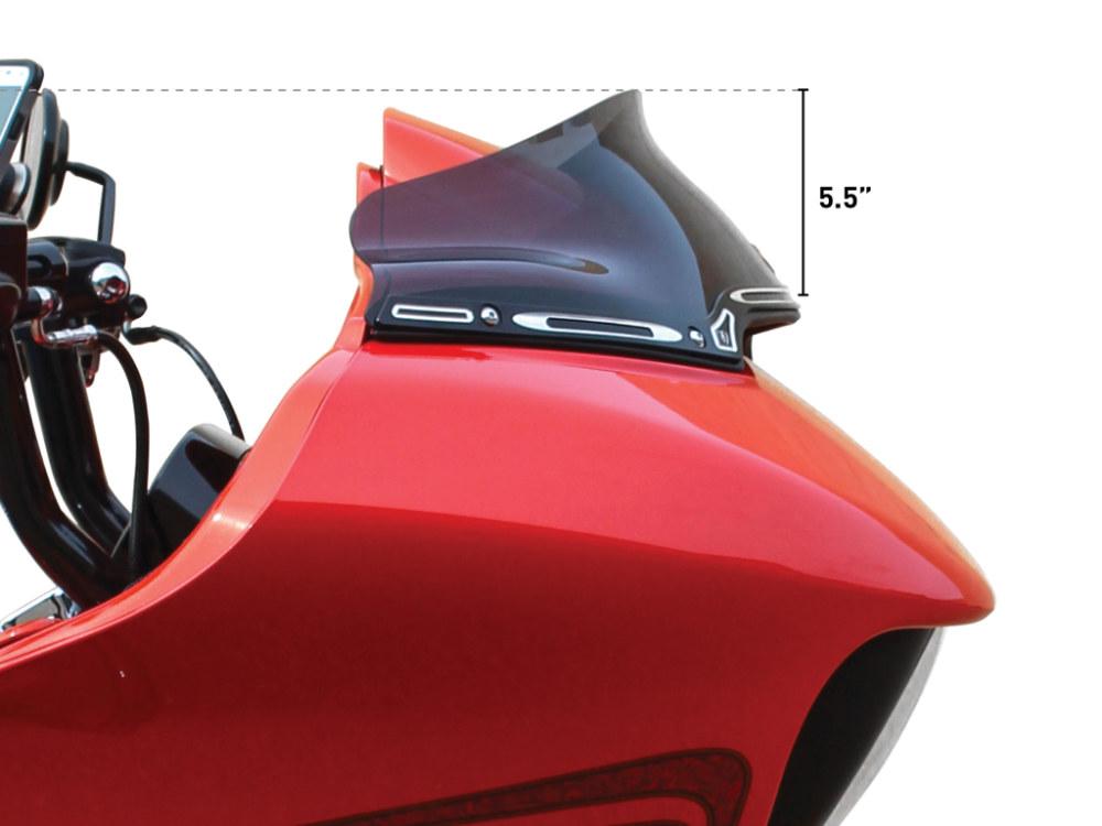 6in. Sports Flare Windshield – Dark Smoke Tint. Fits Road Glide 2015up.