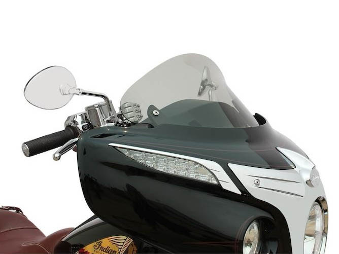 12in. Flare Windshield – Tinted. Fits Indian 2014up.