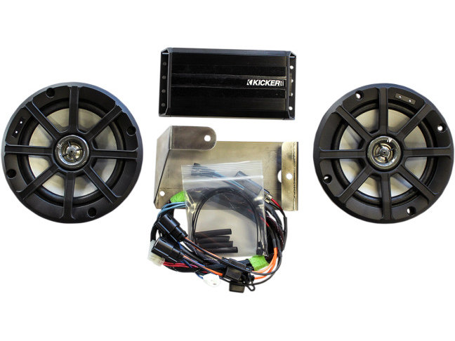 Kicker Audio Kit; Fits Electric Glide Models 2014up with Rear Tour-Pak.