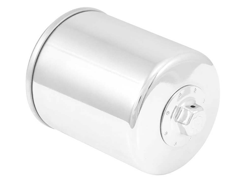Oil Filter with Chrome Finish. Fits Twin Cam 1999-2017 & M8 2016up