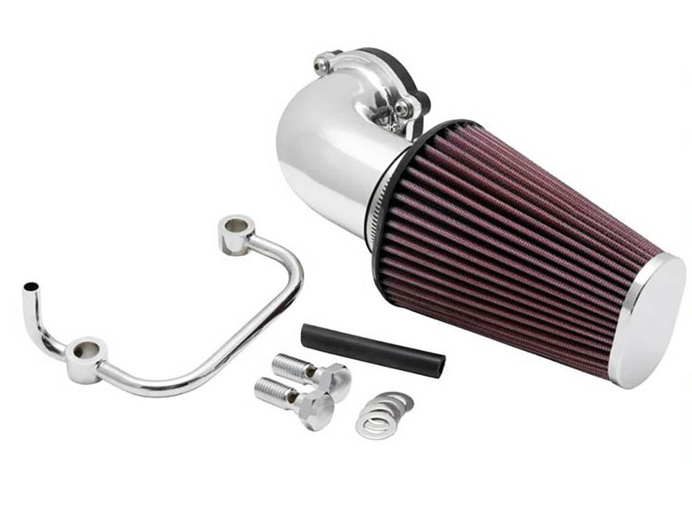 Air Filter Assembly; Sportster'07up. Forward Facing Aircharger with High Flow Element & Polished Finish.