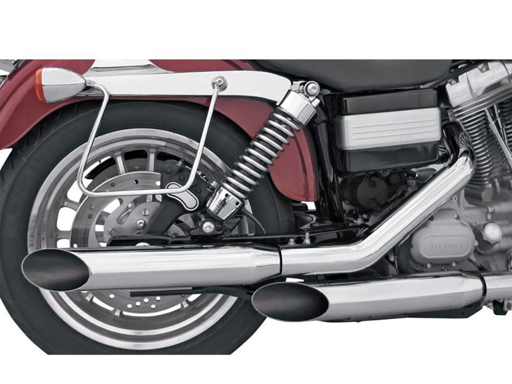 3in. HP-Plus Slash Cut Slip-On Mufflers - Chrome. Fits Dyna 1995-2017.
