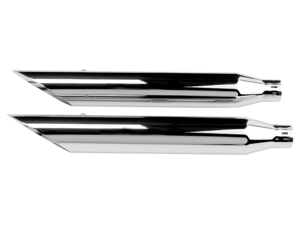 3in. HP-Plus Slash Cut Slip-On Mufflers - Chrome. Fits Softail Deuce 2007 & Fat Boy 2007-2017.