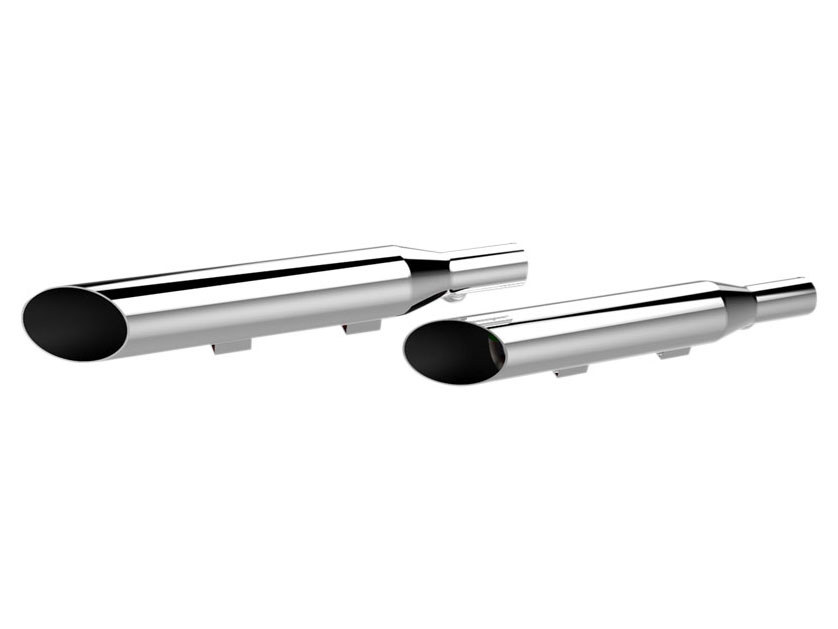 3in. HP-Plus Slash Cut Slip-On Mufflers - Chrome. Fits Sportster 2004-2013.