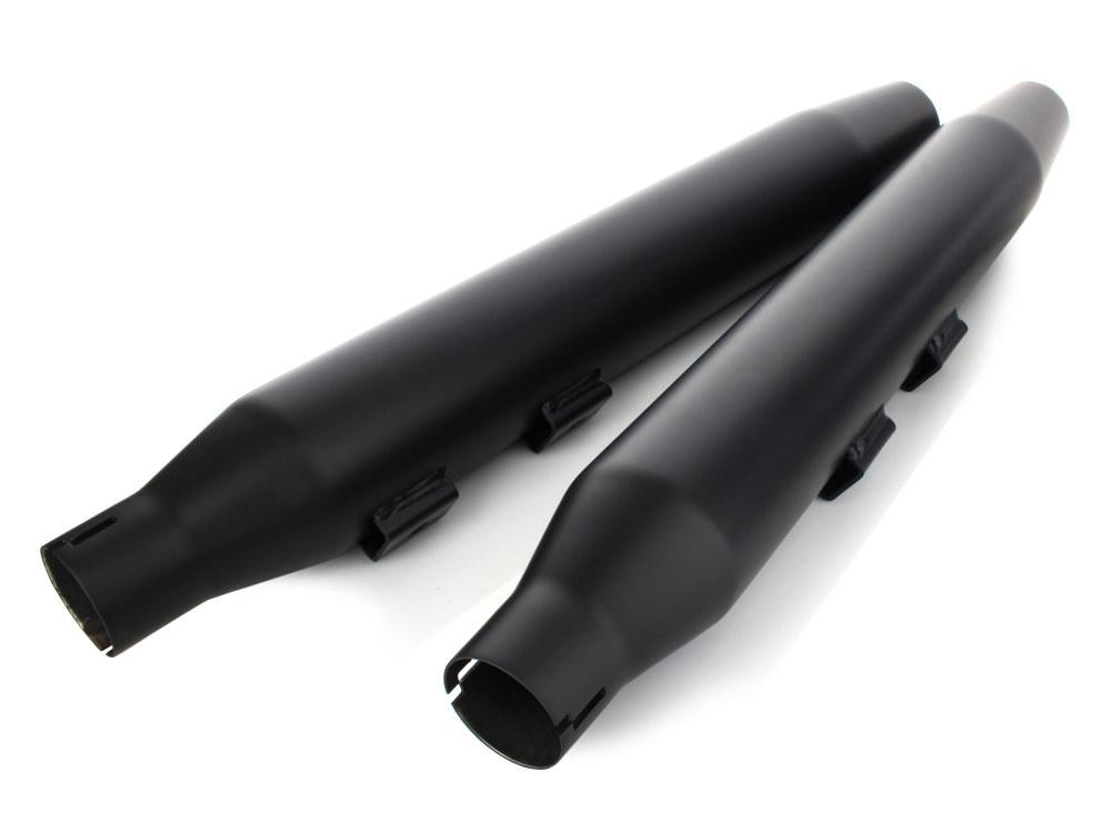 3in. HP-Plus Tapered Slip-On Mufflers - Black. Fits Softail Deluxe 2007-2017, Blackline 2012-2013,  Softail Slim 2013up, Cross Bones 2008-2011 & Fat Boy S 2016-2017.