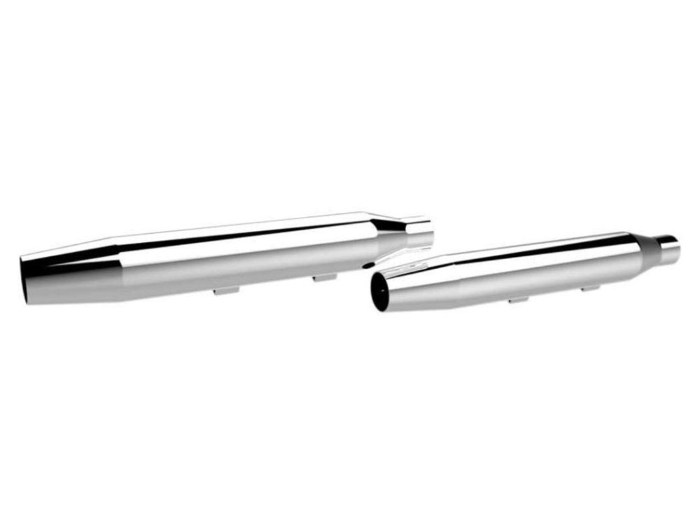 3in. HP-Plus Tapered Slip-On Mufflers - Chrome. Fits Sportster 2014up.