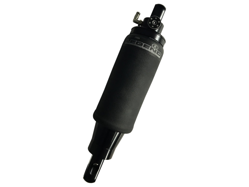 AIR-A Adjustable Rear Air Shocks with Black Finish. Fits M8 Softail 2018up.