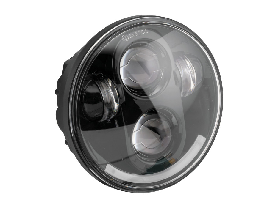 5-3/4in. LED HeadLight – Black. Fits H-D & Indian Scout Models with 5-3/4in. Headlight.