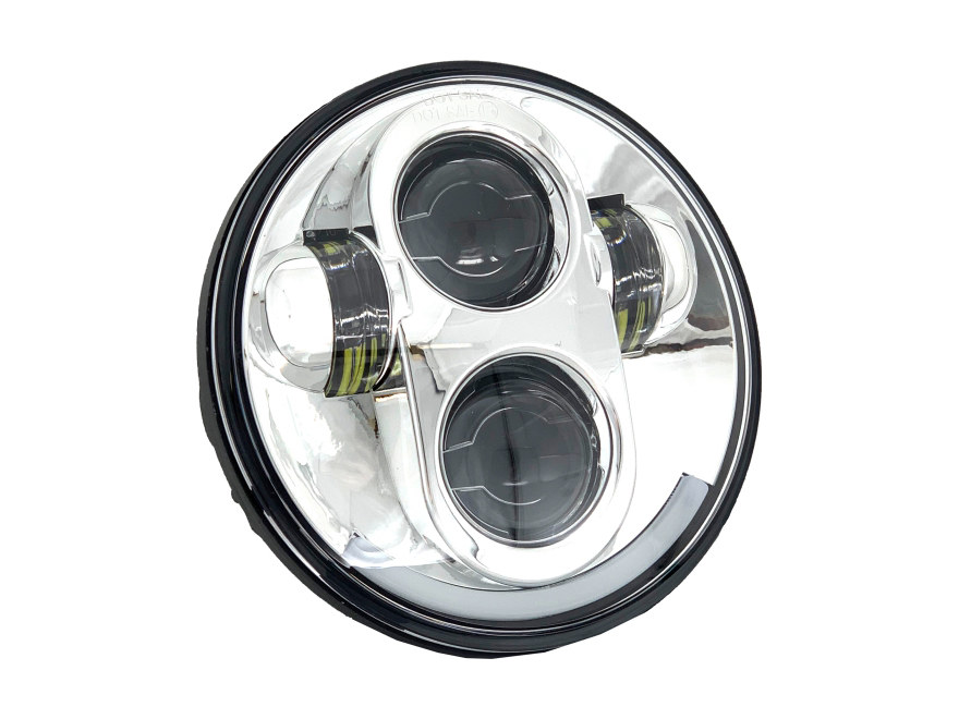5-3/4in. LED HeadLight – Chrome. Fits H-D & Indian Scout Models with 5-3/4in. Headlight.