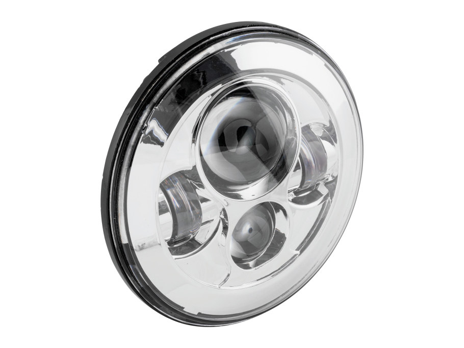 7in. LED HeadLight Insert – Chrome. Fits H-D, Indian Chief Classic & Dark Horse Models with 7in. Headlight.