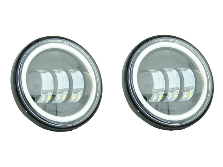 4-1/2in. LED Passing Lamp Inserts with Halo – Black.