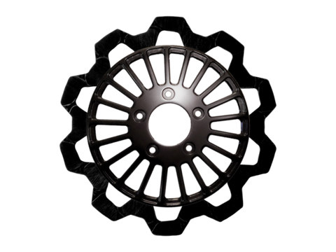 11.8in. Front Breakout Bow-Tie Disc Rotor – Black. Fits Dyna 2006-2017, Softail 2015up, Sportster 2014up & Some Touring 2008up.