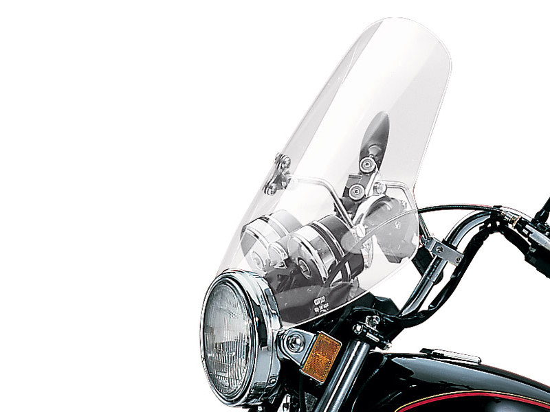 Demon Solar/Tinted Handlebar Mount Windshield. 18in. High x 21in. Wide.