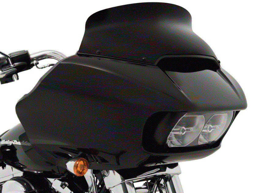 5.5in. Spoiler Windshield – Black Opaque. Fits Road Glide 2015up.