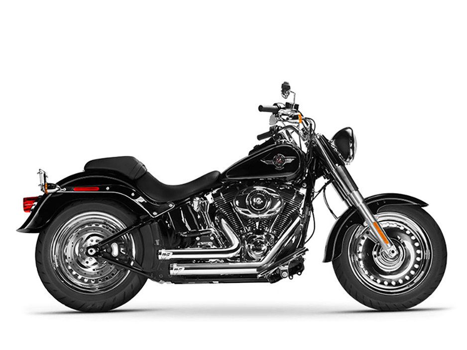 Bandit Exhaust with Chrome Finish. Fits Softail Breakout 2013-2017 & Rocker 2008-2011 Models.