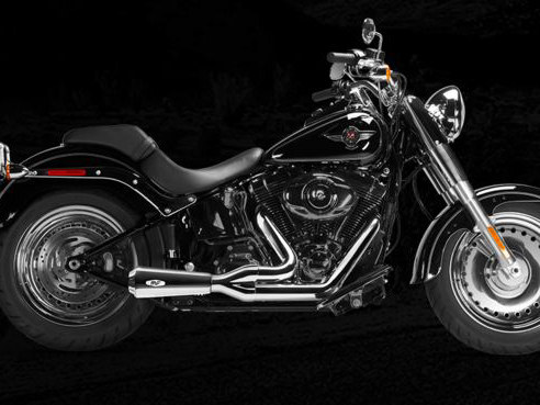 Riot 2-into-1 Exhaust - Chrome with Chrome End Cap. Fits Softail Breakout 2013-2017 & Rocker 2008-2011.
