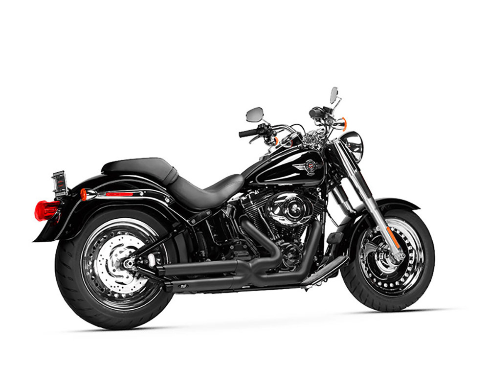 Legacy Gen-X Exhaust - Black with Black End Caps. Fits Softail Breakout 2013-2017 & Rocker 2008-2011.