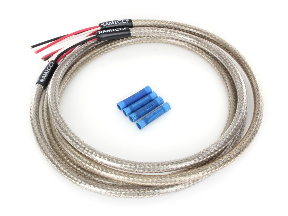 NMZ-NTSH-3602 Harness; Turn Signal 36in. Stainless Braided & Clear Coated  Namz Custom Cycle ProductsRollies Speed Shop