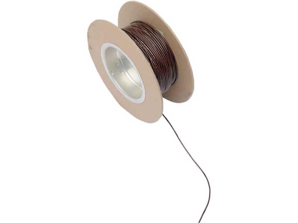 18-Gauge Wire – Brown with Black Stripe.