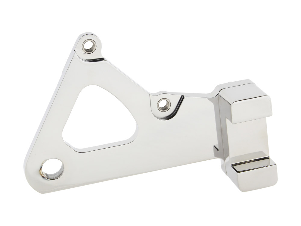 Right Hand Rear Caliper Mount with Chrome Finish. Fits FXR 1982-1999 & FXWG 1984-1986 with 11.5