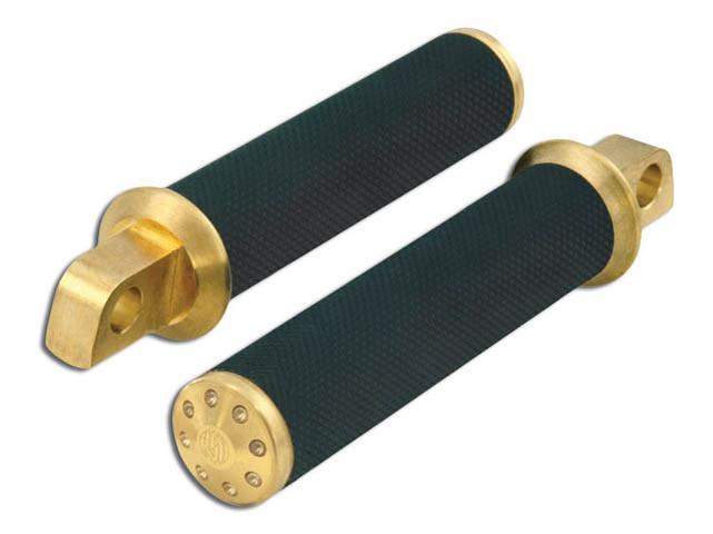 Footpegs; RSD Tracker SoftailStraight Male Mnt Brass