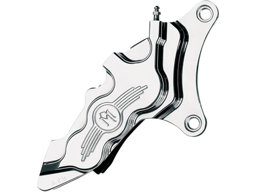 Right Hand Front 6 Piston Caliper with Chrome Finish. Fits most Big Twin 1984-1999 & Sportster 1984-1999 Models with 11.5