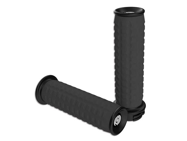 Handgrips; RSD Traction BLKCable Throttle (Pair)