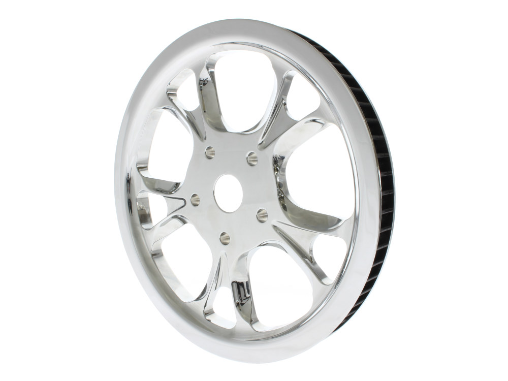 66 Tooth x 20mm Wide Gasser/Luxe Pulley with Chrome Finish. Fits Softail 2007-2011 with OEM 200 Rear Tyre.
