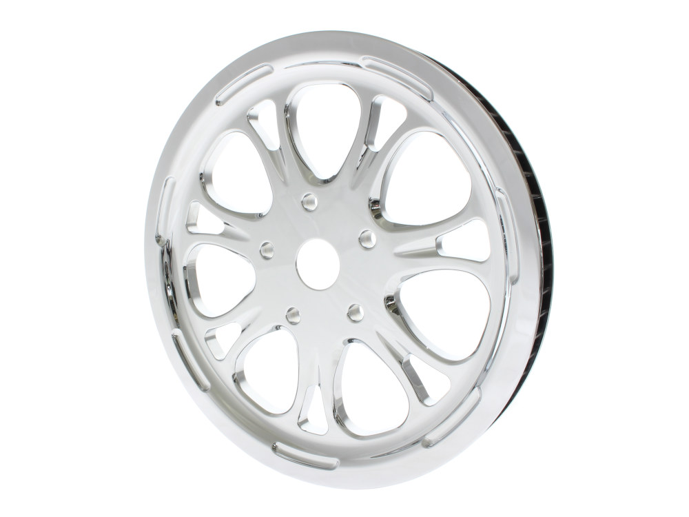 66 Tooth x 20mm Wide Paramount Pulley with Chrome Finish. Fits Softail 2007-2011 with OEM 200 Rear Tyre.