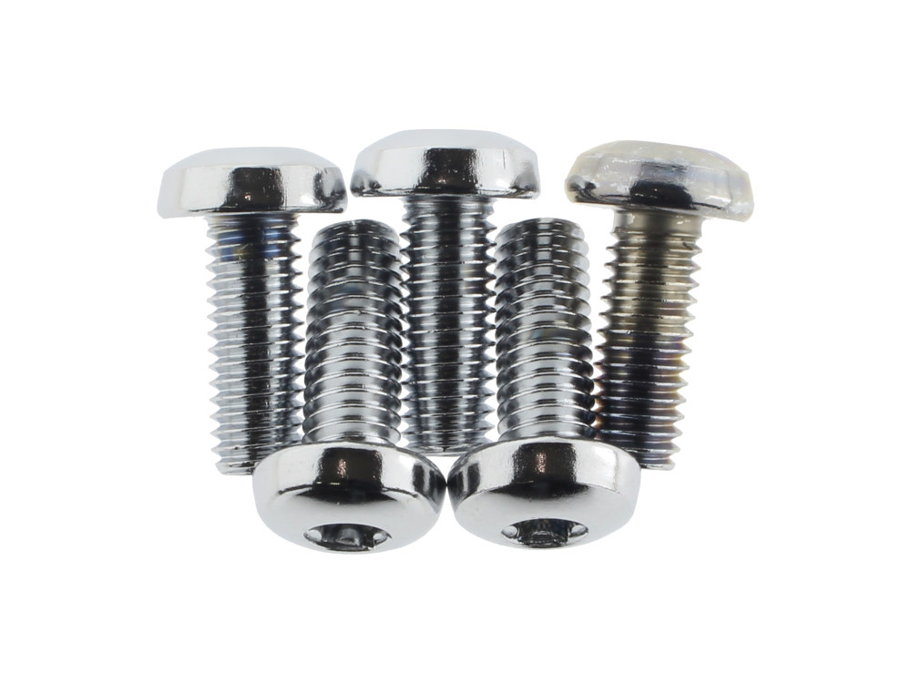 Rear Disc Rotor Bolt Kit with Chrome Finish. Fits 1984up Models running a PM Disc