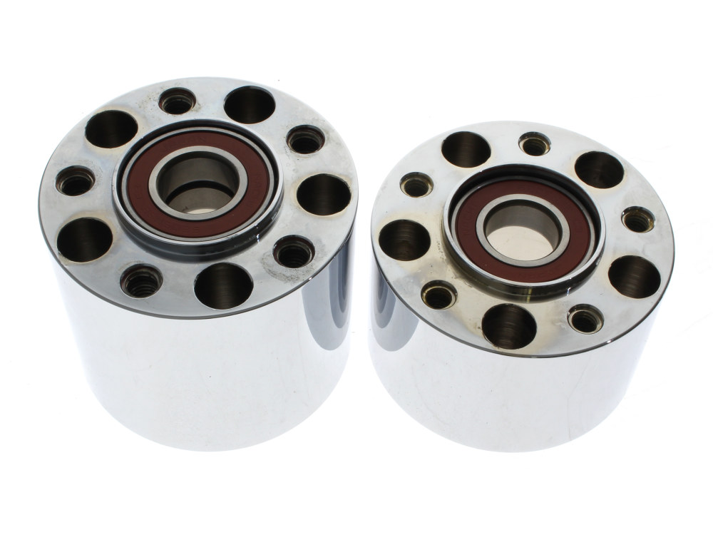 Rear Wheel Hub with Chrome Finish. Fits Softail 2008-2010.