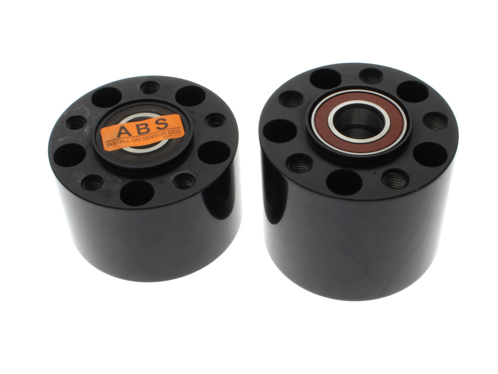 Rear Wheel Hub with Black Finish. Fits Softail 2011up with ABS.