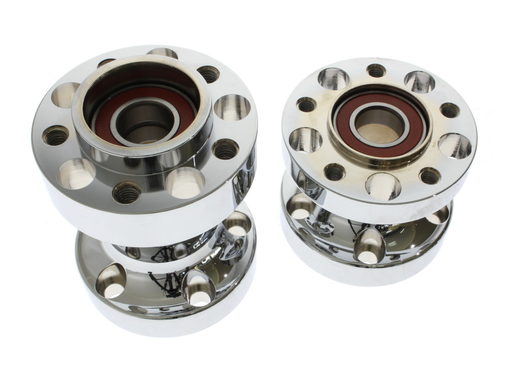 Rear Wheel Hub with Chrome Finish. Fits FXSB 2013up with ABS & Heartland  HL-280-HB Wide Tyre Kit.