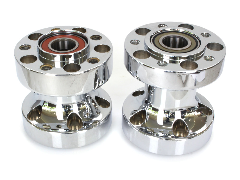 Rear Wheel Hub with Chrome Finish. Fits Softail 2011-2017 with Heartland HL-250 Wide Tyre Kit.